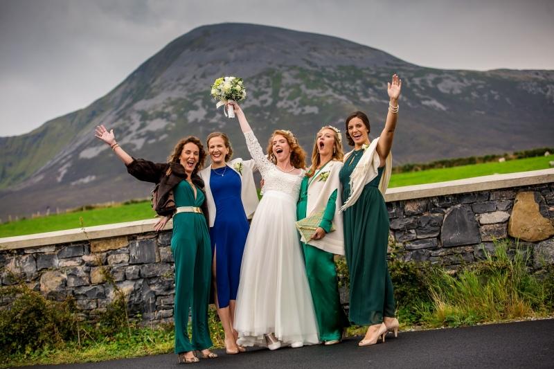 Celebrating at Croagh Patrick
