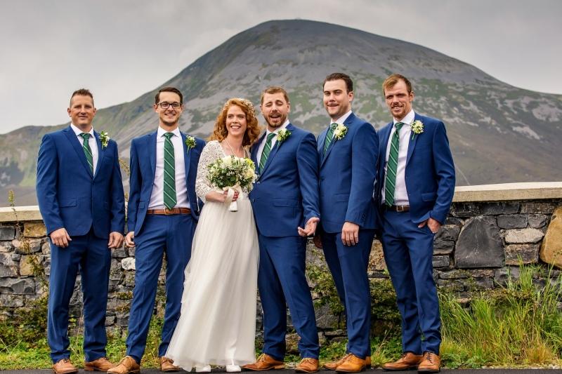 Groomsmen at Croagh Patrick