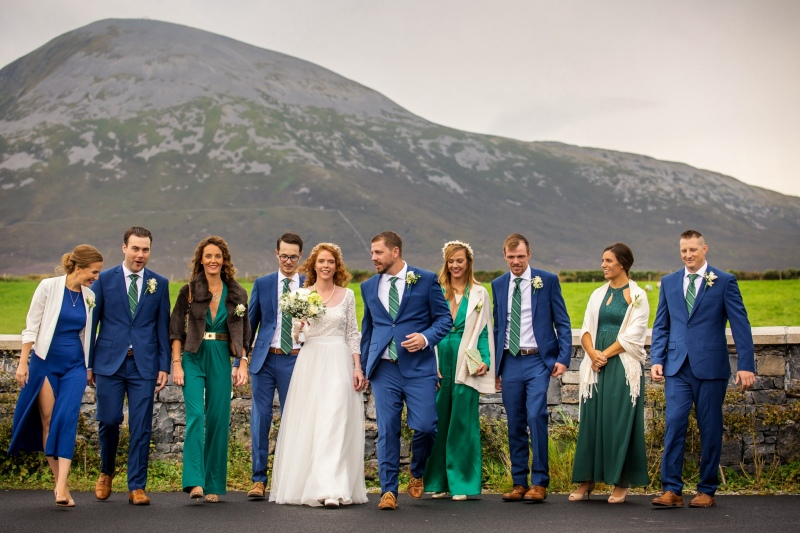 Wedding Party in front of Croagh Patrick