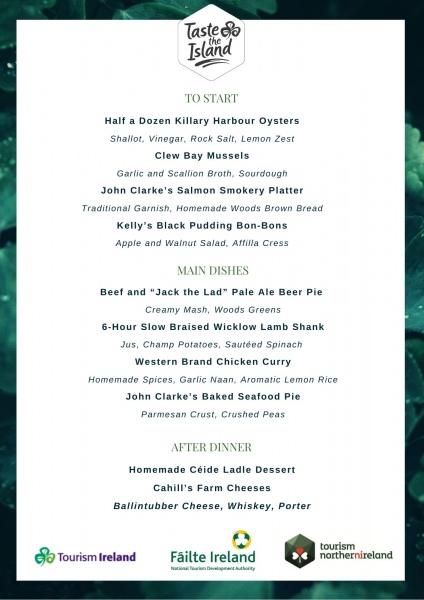 taste the island menu